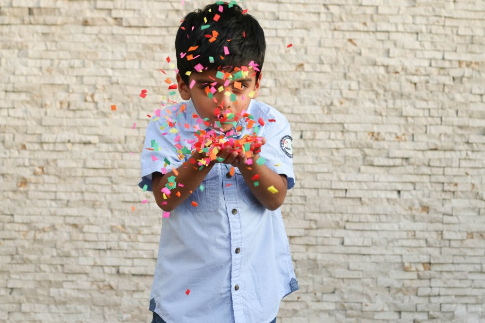 perfect confetti photo