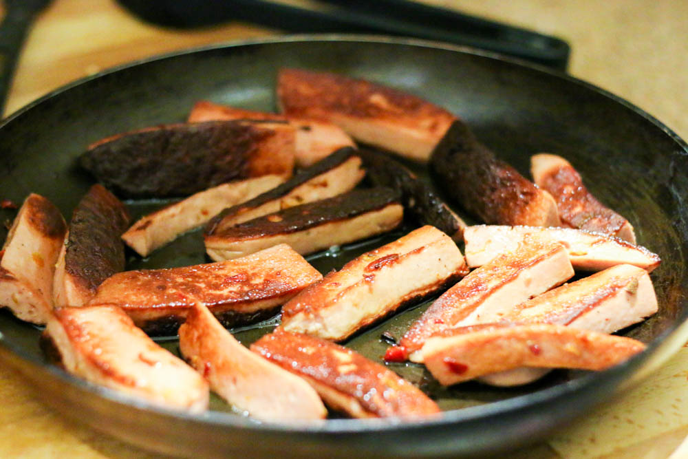 seared sausages