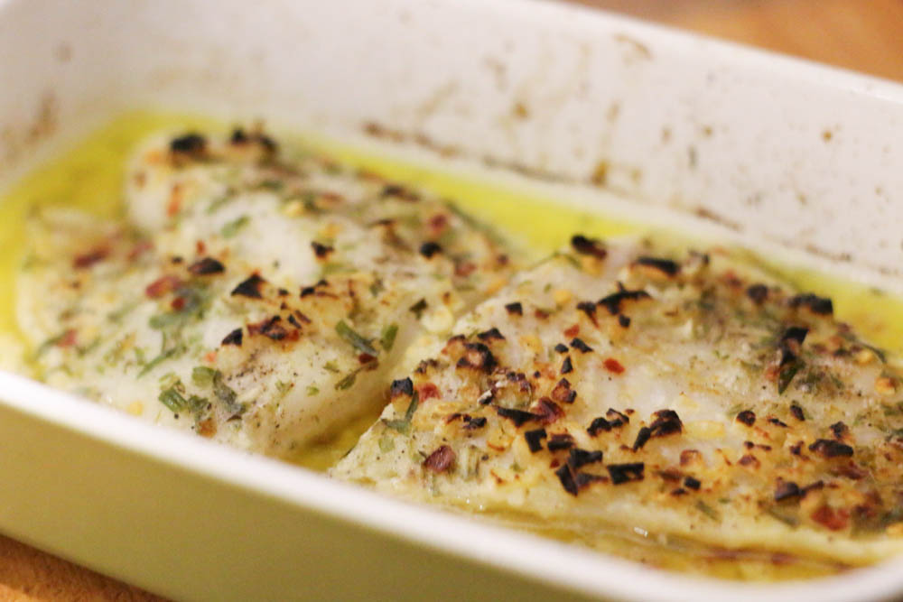 baked fish with lemon and garlic